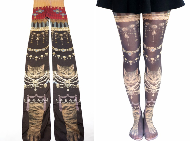 6f99172af Luxury Princess Cats Printed Tights on Luulla
