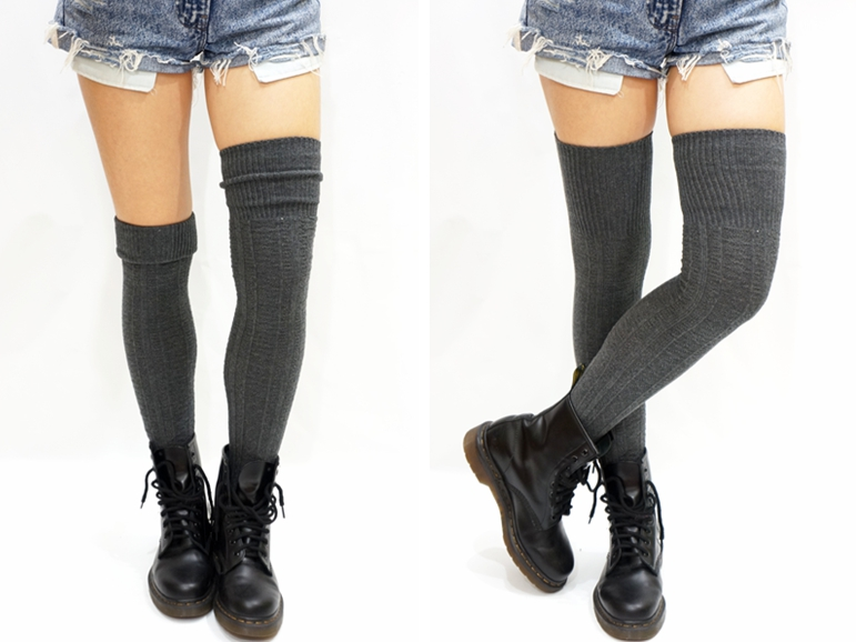 13d316ffcf431 Cozy Cable Knit Thigh High Socks Boot Socks on Luulla
